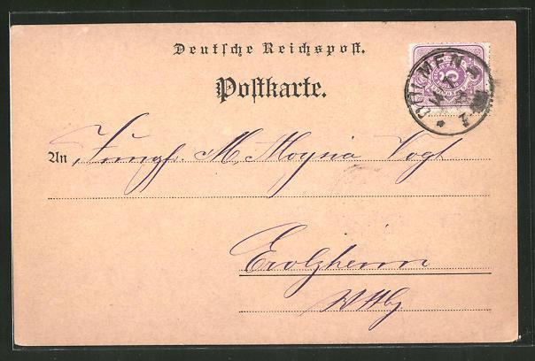 AK Dülmen / Westf., Geldempfangsanzeige A. Laumann'sche Verlagshandlung