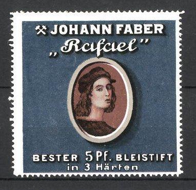 Reklamemarke Johann Faber