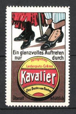 Reklamemarke Kavalier Lederputz-Creme, Schuhpaare