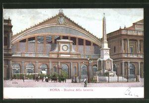AK Roma, Stazione della ferrovia, Bahnhof