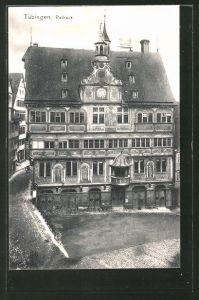AK Tübingen, Blick auf das Rathaus