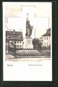 AK Fulda, Blick zum Bonifacius-Denkmal