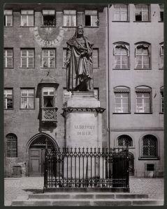 Fotografie Ansicht Nürnberg, Denkmal von Albrecht Dürer