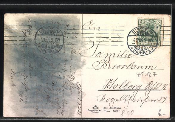 AK Essen, Krupp's Gussstahlfabrik mit Kanonenwerkstatt II., Fabrikarbeiter 1