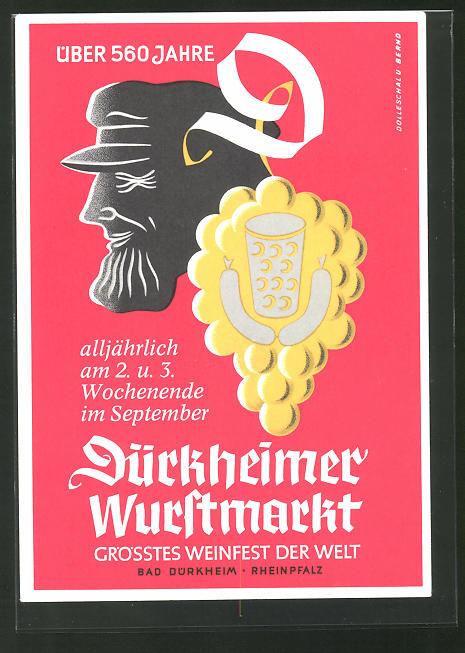 AK Bad Dürkheim, Volksfest Dürkheimer Wurstmarkt, grösstes Weinfest der Welt