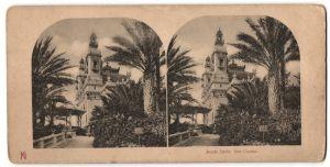 Stereo-Fotografie unbekannter Fotograf, Ansicht Monte Carlo, Blick zum Casino