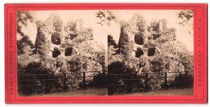Stereo-Fotografie Franz Richard, Ort unbekannt, Ansicht Heidelberg, Teilansicht vom Schloss