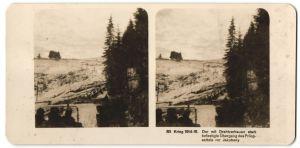 Stereo-Fotografie Fotograf und Ort unbekannt, Befestigter Übergang des Prilopsattels vor Jakobeny