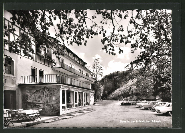 AK Doos / Fränk. Schweiz, Gasthof Heinlein, Teilansicht