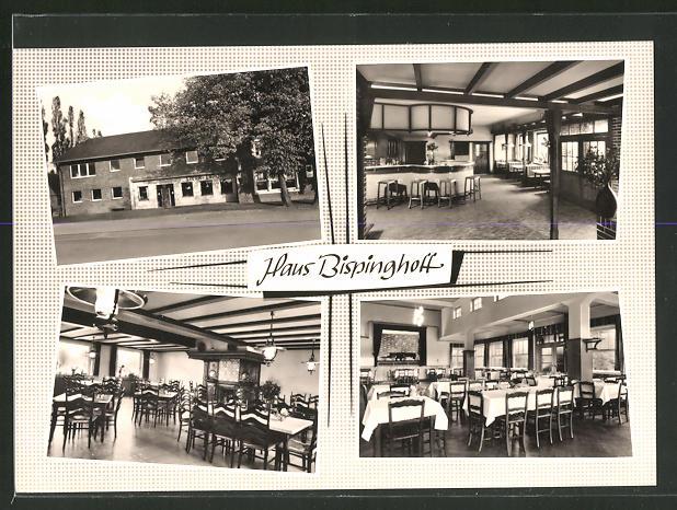 AK Dülmen / Westf., Ausflugslokal Bispinghoff mit Blick in den Speisesaal