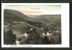 AK Freudenstadt, Blick auf das Christophsthal