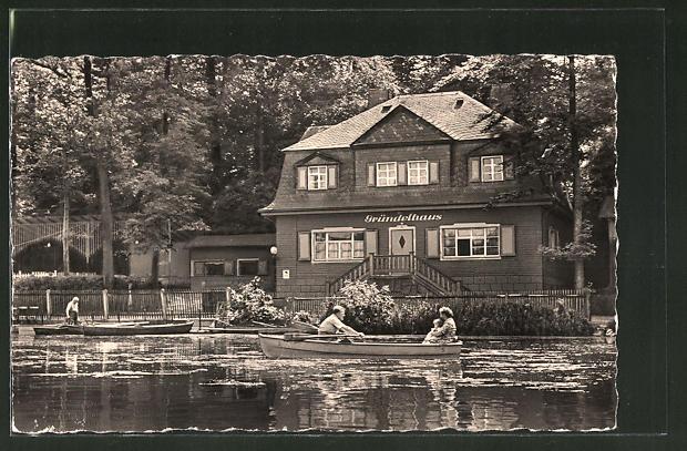 AK Glauchau, Gründelhaus am Gründelteich