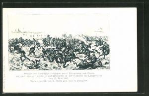 AK Attacke der Cambridge-Dragoner in der Schlacht bei Langensalza 1866, Reichseinigungskriege