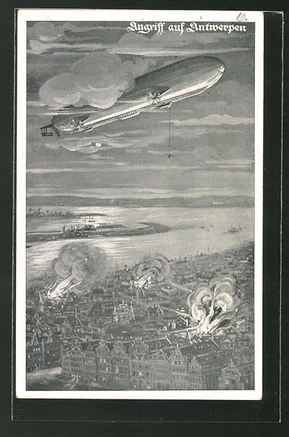 AK Deutscher Luftflotten-Verein, Angriff auf Antwerpen