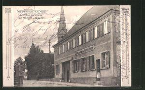 AK Niederhochstadt, Gasthaus zur Krone von Heinrich Schweder
