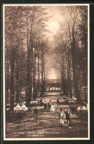 AK Bad Bocklet, Caritas - Heim , Parkpartie