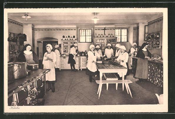 AK Lülsfeld, Kloster Maria Schnee, Haushaltungsschule, Küche
