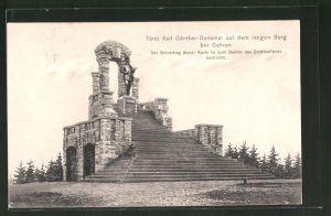 AK Gehren, Fürst Karl Günther-Denkmal auf dem langen Berg