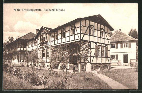AK Pössneck / Thür., Blick zur Walderholungsstätte