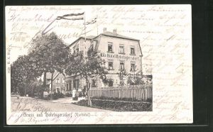 AK Behringersdorf, Strassenpartie am Kurhotel