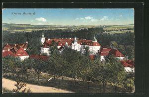 AK Ostritz, Blick zum Kloster Mariental