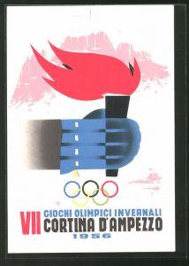 AK Cortina, VII. Olympische Winterspiele 1956, Fackel