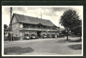 AK Friedrichsbrunn i. Ostharz, Ansicht vom Hotel Schwarzer Adler