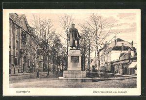 AK Dortmund, Bismarckdenkmal am Südwall