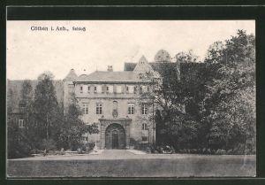 AK Cöthen / Anhalt, Blick zum Schloss