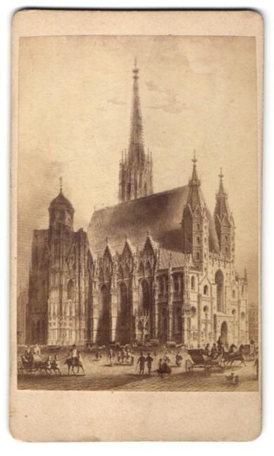 Fotografie Fotograf unbekannt, Ansicht Wien, Domkirche St. Stephan zu Wien, Stephansdom, Stephanskirche 0