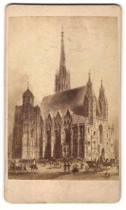 Fotografie Fotograf unbekannt, Ansicht Wien, Domkirche St. Stephan zu Wien, Stephansdom, Stephanskirche
