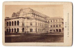 Fotografie Fotograf unbekannt, Ansicht Wien, Partie am Opernhaus um 1869