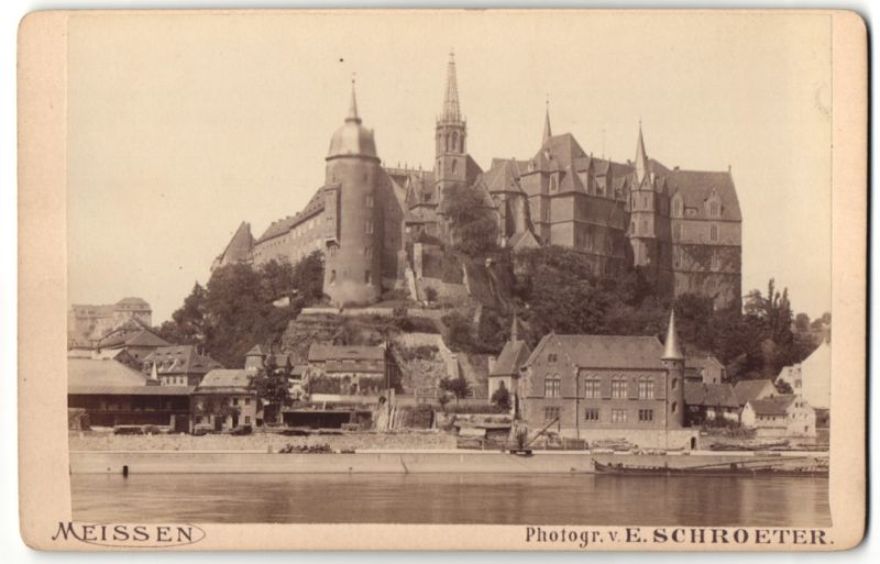 Fotografie E. Schroeter, Meissen, Ansicht Meissen, Blick zur Burg