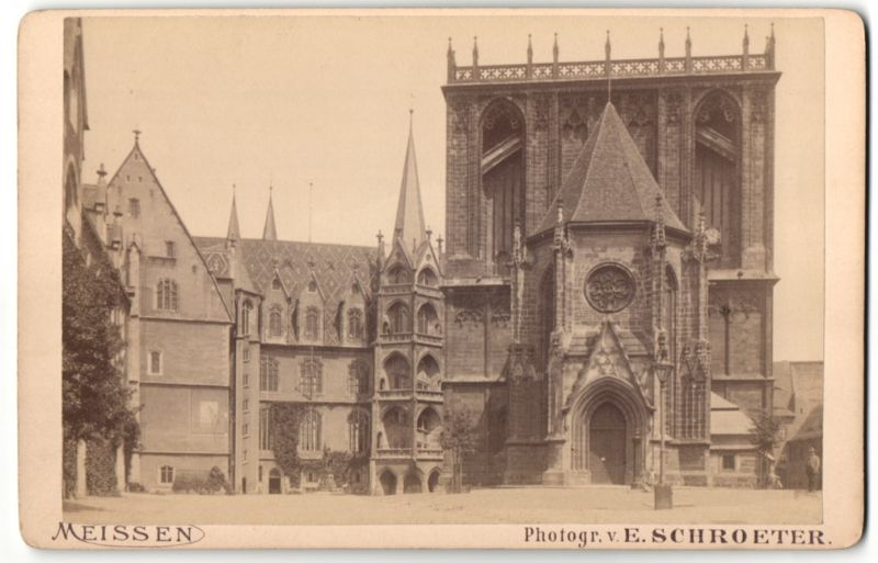 Fotografie E. Schroeter, Meissen, Ansicht Meissen, Partie am Dom