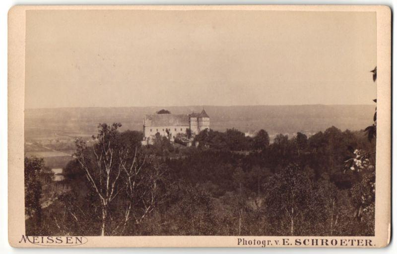 Fotografie E. Schroeter, Meissen, Ansicht Meissen, Schloss Scharfenberg