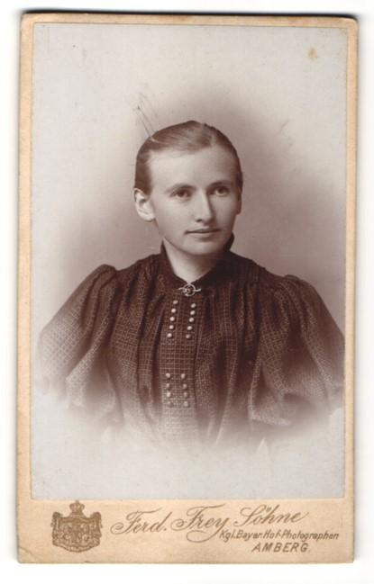 Fotografie Ferd. Frey Söhne, Amberg, Portrait bürgerliche junge Dame