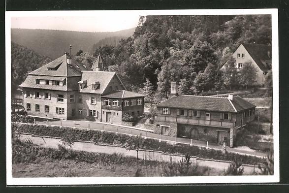 AK Elmstein / Pfalz, Partie am Ferienheim Elmstein der Naturfreunde