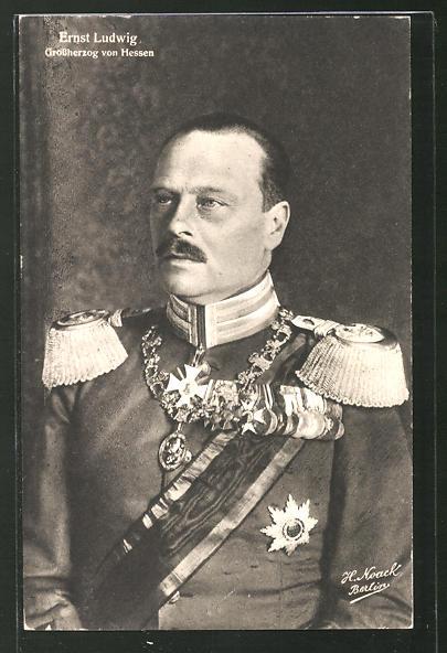 AK Grossherzog Ernst Ludwig von Hessen-Darmstadt, Portrait in Uniform