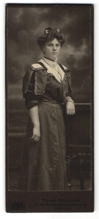 Fotografie Ernst Rudolph, Hof i/B, Portrait bürgerliche junge Dame