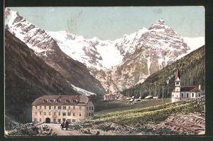 AK Trafoi, Gasthof zur schönen Aussicht mit Ortler