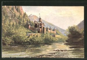AK Mauls, Blick auf das Schloss Welfenstein