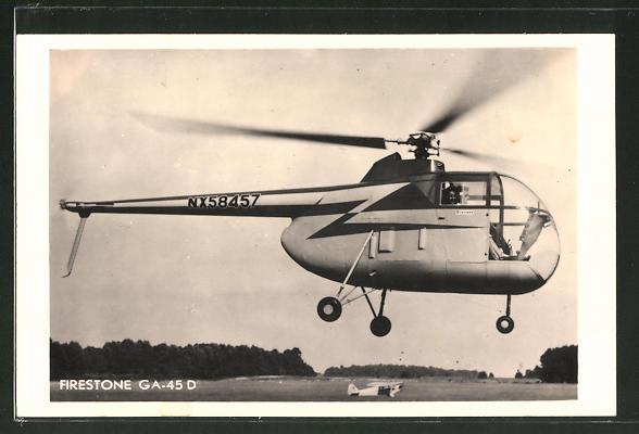 AK Hubschrauber Firestone GA-45D hebt ab