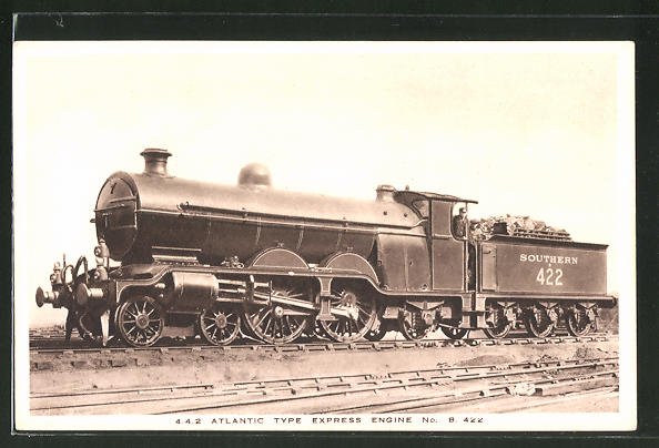 AK englische Eisenbahn, 4.4.2 Atlantic, Locomotive Type Express Engine no. B 422