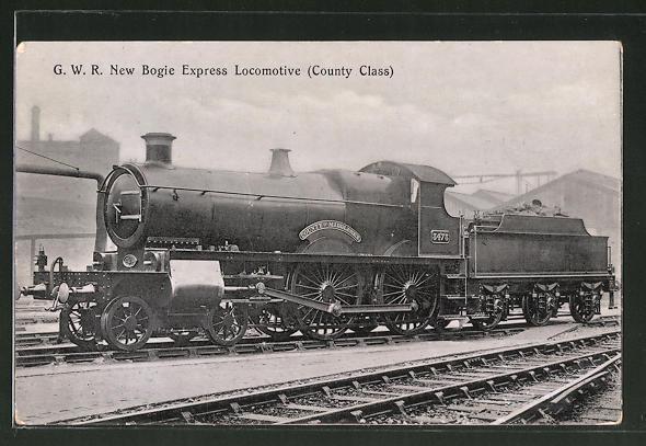 AK englische Eisenbahn, G.W.R. Bogie Express Locomotive, Couty Class