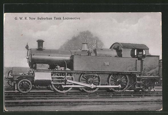 AK englische Eisenbahn, G.W.R. New Suburban Tank Locomotive No. 99