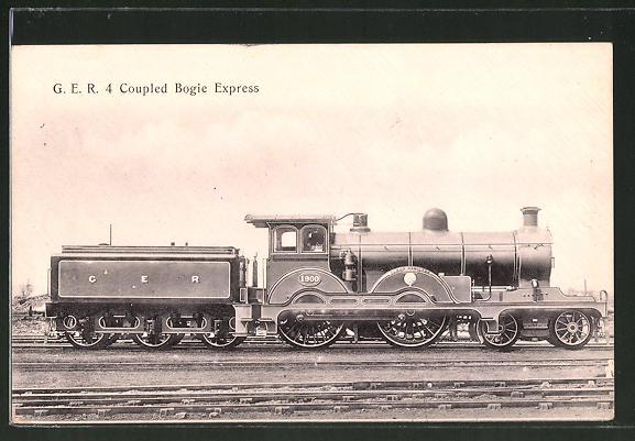 AK englische Eisenbahn, G.E.R. 4 Coupled Bogie Express Locomotive