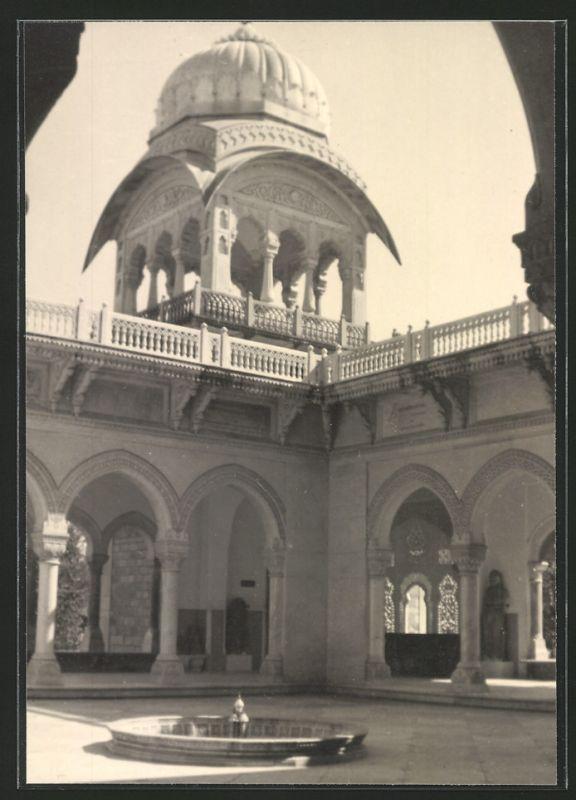 Fotografie Fotograf unbekannt, Ansicht Aleppo, Partie auf einem Palast-Hof