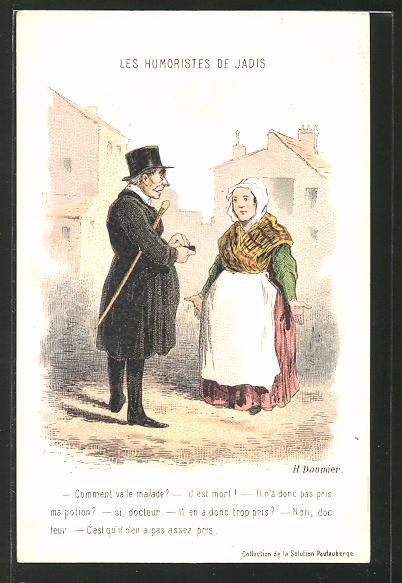 Künstler-AK sign. H. Daumier: