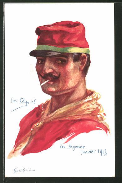 Künstler-AK Em. Dupuis: En Argonne, Janvier 1915, Garibaldien, italienische Infanterie