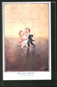 Künstler-AK T. Gilson: The last Waltz, kleine Tänzer